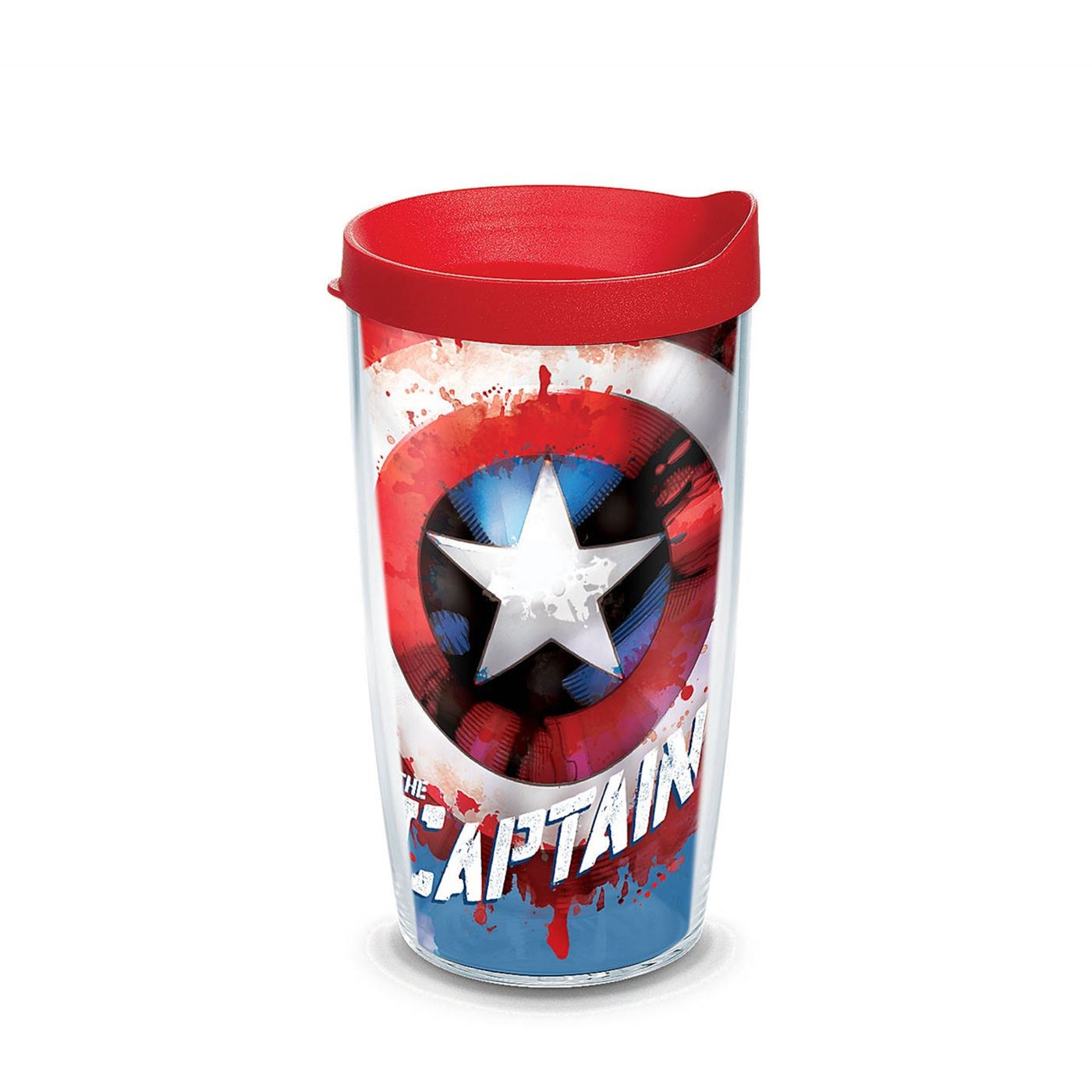 Captain America Wrap Tumbler With Travel Lid 16 oz Tervis® Tumbler