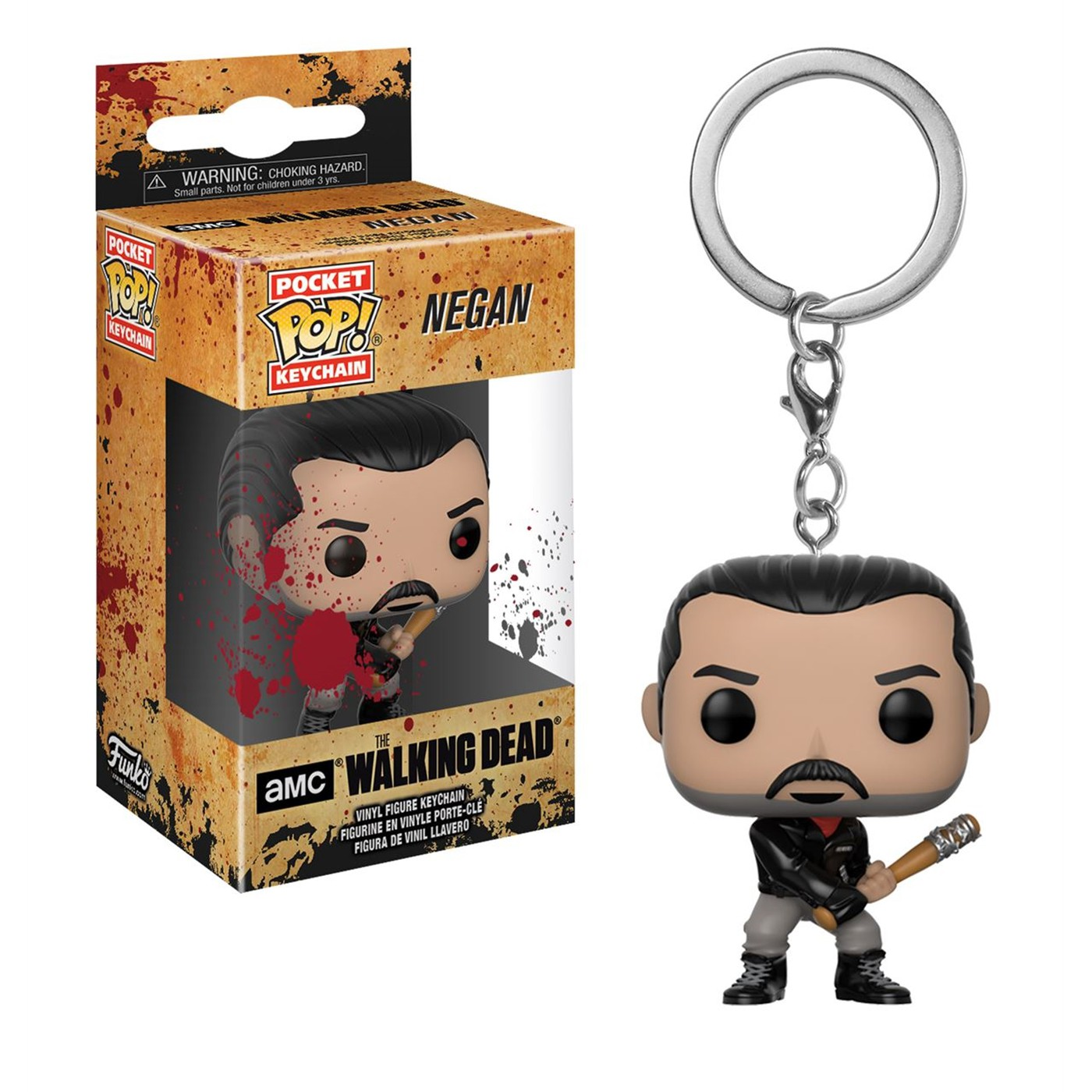 Walking Dead Negan Pocket Pop Keychain