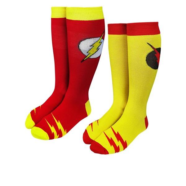 Flash  and  Reverse Flash Crew Sock 2-Pair Pack