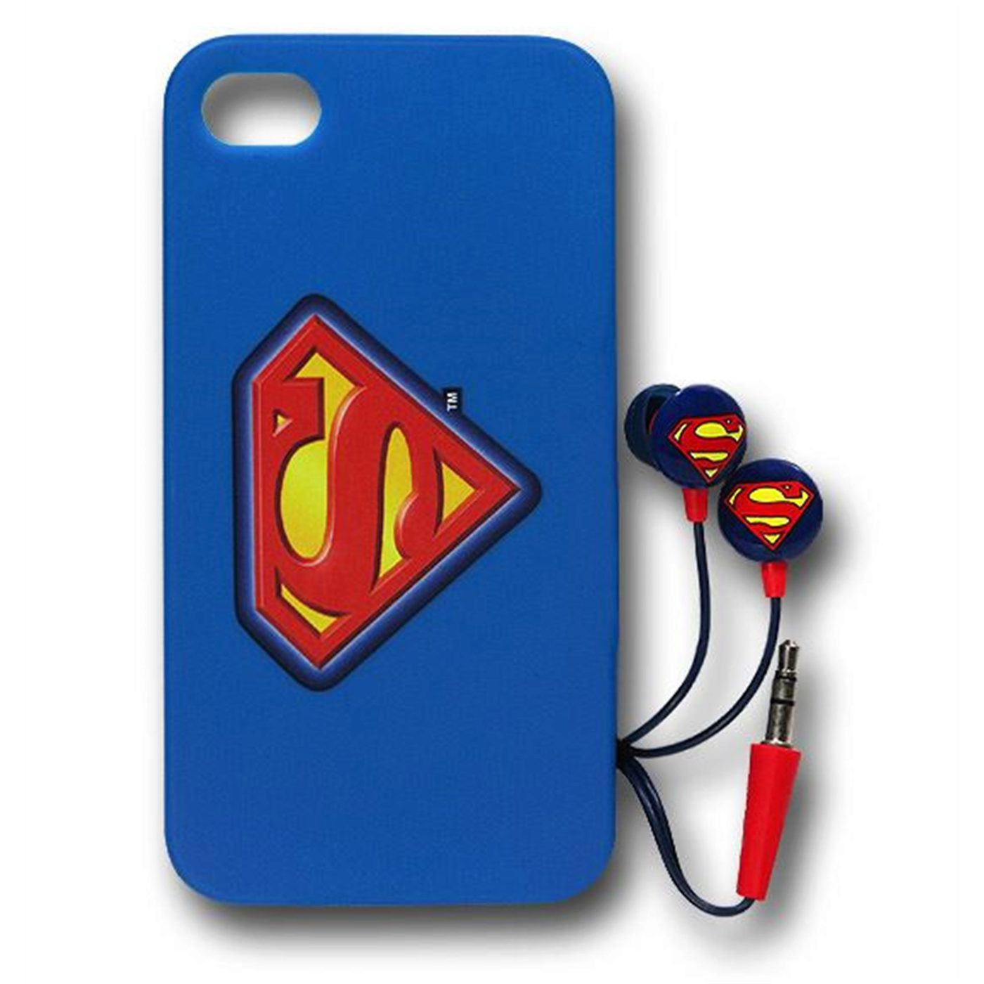 Superman Iphone 4/4S Case/Earbud Pack
