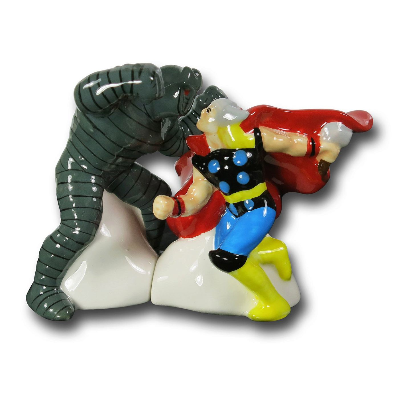 Thor Vs. The Destroyer Salt  and  Pepper Shakers