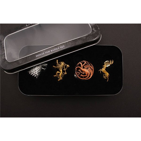 Game of Thrones 4-Pack Pin Badges Main Houses