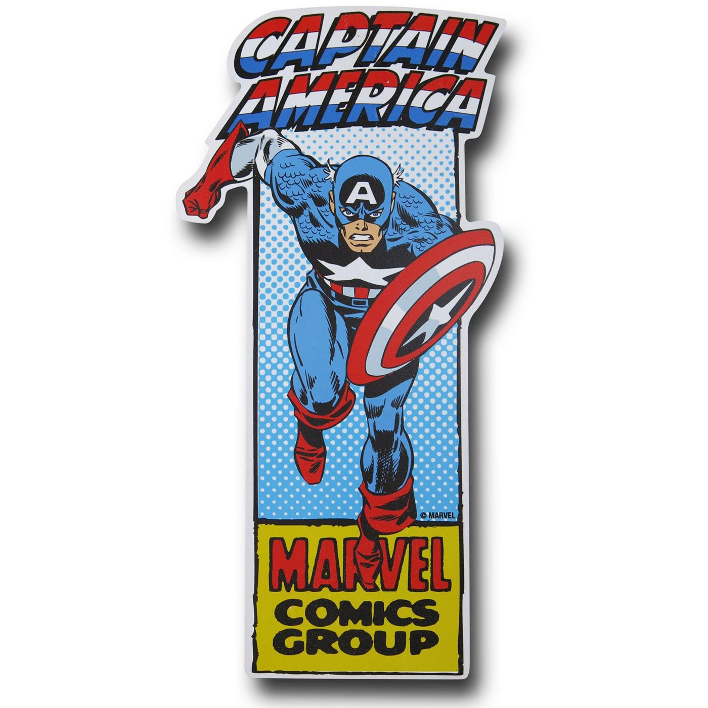 Captain America Die Cut Sign