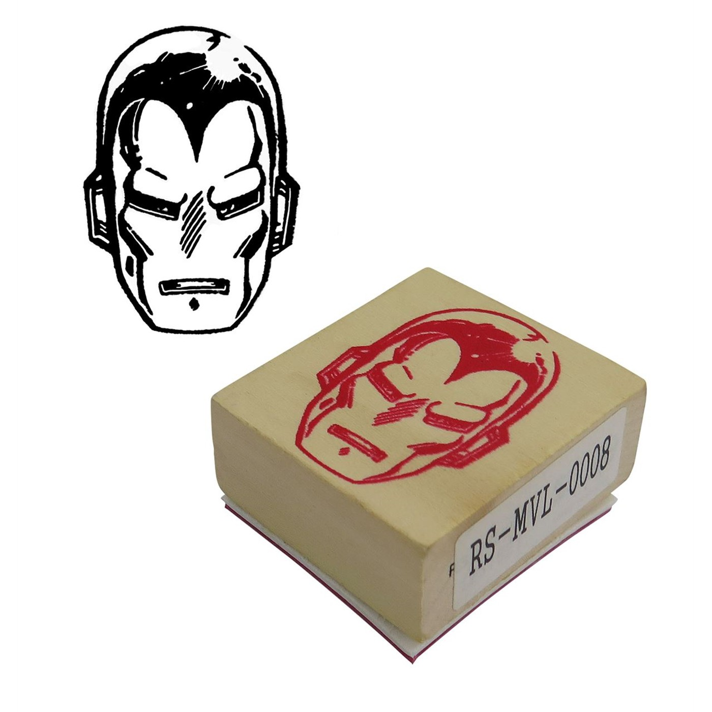 Iron Man Face Rubber Stamp