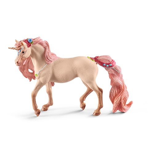 SCHLEICH Bayala Decorated Unicorn Mare Toy Figure