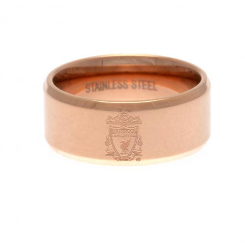 Liverpool F.C. Rose Gold Plated Ring Large