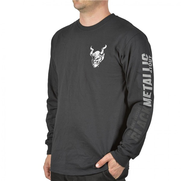 Arrogant Bastard Men's Black Metallic Long Sleeve Shirt