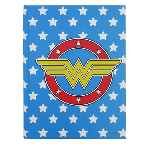 Wonder Woman Logo  and  Stars Hardcover Journal