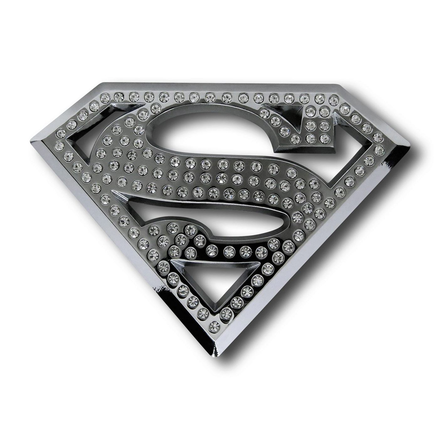 Superman Bling Symbol 3D Plastic Car Emblem
