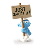 Smurf Just Smurf It Sign Statue