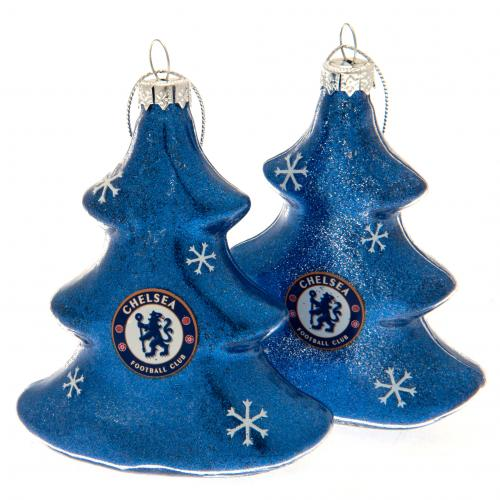 Chelsea F.C. 2pk Tree Baubles