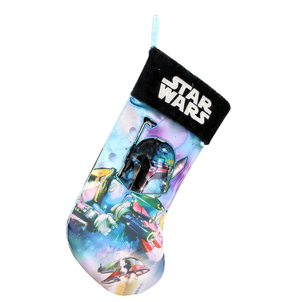 Sw Boba Fett Xmas Sock 45 Cm Christmas Decorations