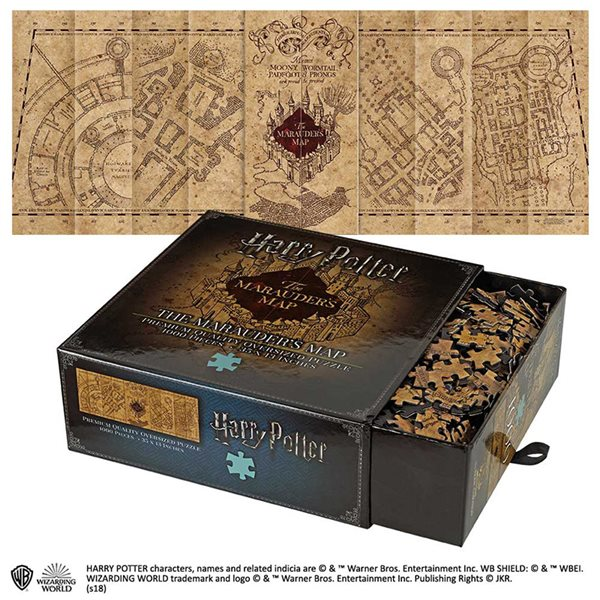 Hp The Marauders Map Cover Puzzle Puzzles