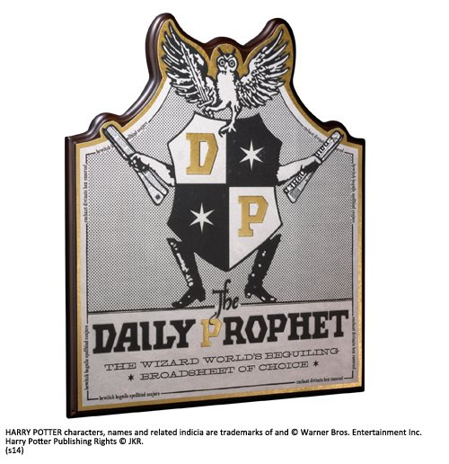 Hp Daily Prophet Wall Plaque Plate