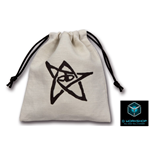 Cthulhu Logo Beige Dice Bag Accessories