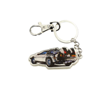 Bttf Time Machine Metal Keychain