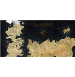 Game Of Thrones Westeros Map On Glass Poster