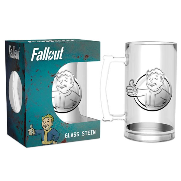 Fallout Vault Boy Glass Stein Beer Tankard