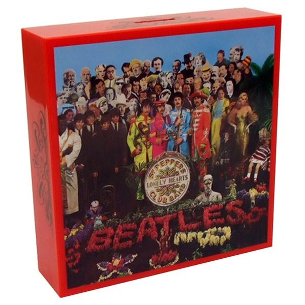 Beatles Sgt Pepper Cover Coin Bank Money Box