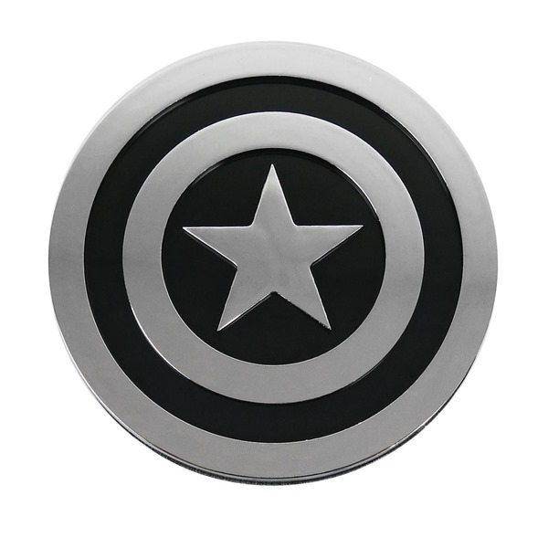 Captain America Shield Chrome and Black Car Emblem