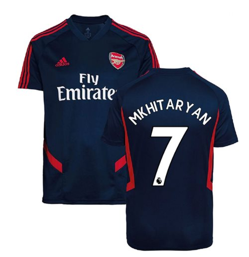 2019-2020 Arsenal Adidas Training Shirt (Navy) - Kids (Mkhitaryan 7)