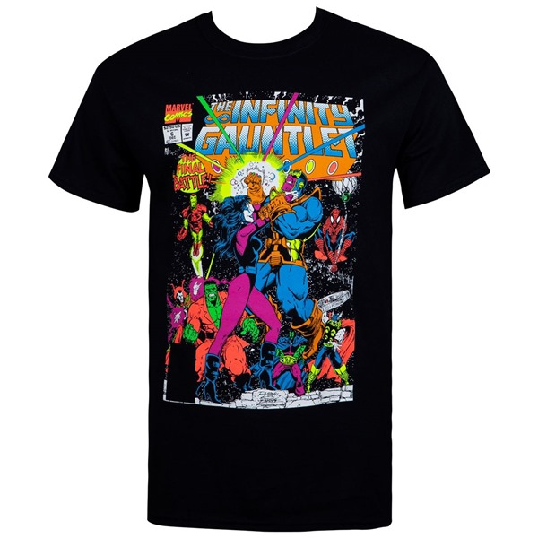The Infinity Gauntlet Thanos Final Battle Comic Men's T-Shirt
