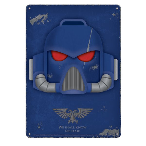 W40K Space Marine Metal Mini Poster