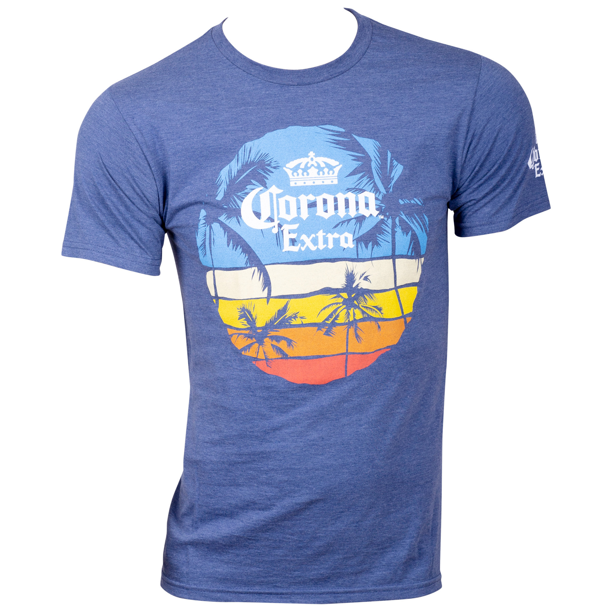 Corona Beer Sunset Men's Blue T-Shirt