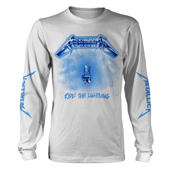 Metallica Long Sleeves T-Shirt Ride The Lightning (WHITE)