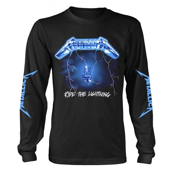 Metallica Long Sleeves T-Shirt Ride The Lightning (BLACK)