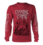 Cannibal Corpse Long Sleeves T-Shirt Pile Of Skulls 2018 (RED)