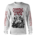 Cannibal Corpse Long Sleeves T-Shirt Pile Of Skulls 2018 (WHITE)