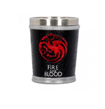 Game Of Thrones Shot Glass ( Stainless Steel & Resin ) Fire And Blood Shot Glass