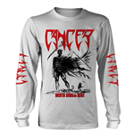 Cancer Long Sleeves T-Shirt Death Shall Rise (WHITE)