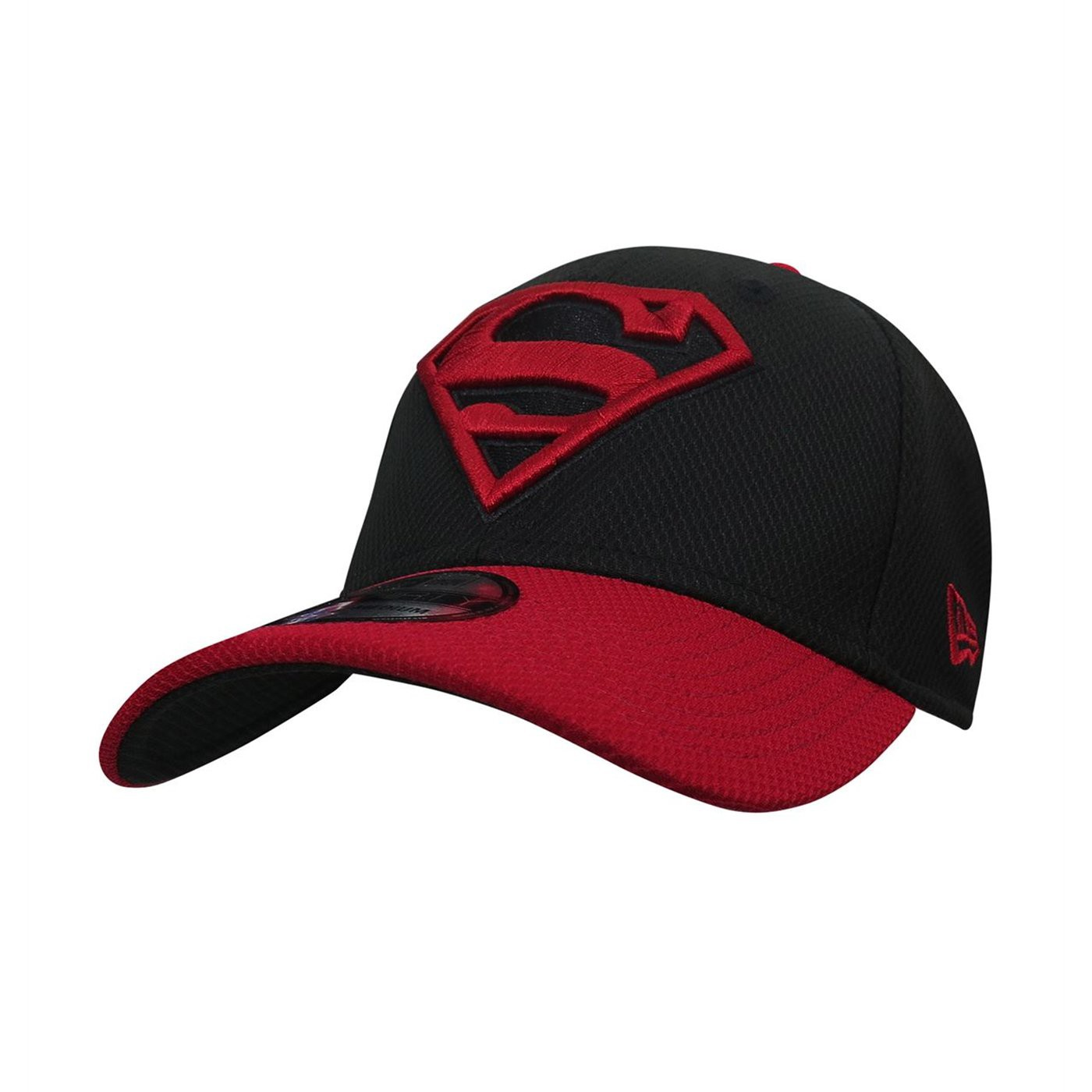 Superboy Symbol Red  and  Black 39Thirty Fitted Hat