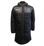 2019-2020 Sporting Lisbon Macron Long Bench Jacket (Black)