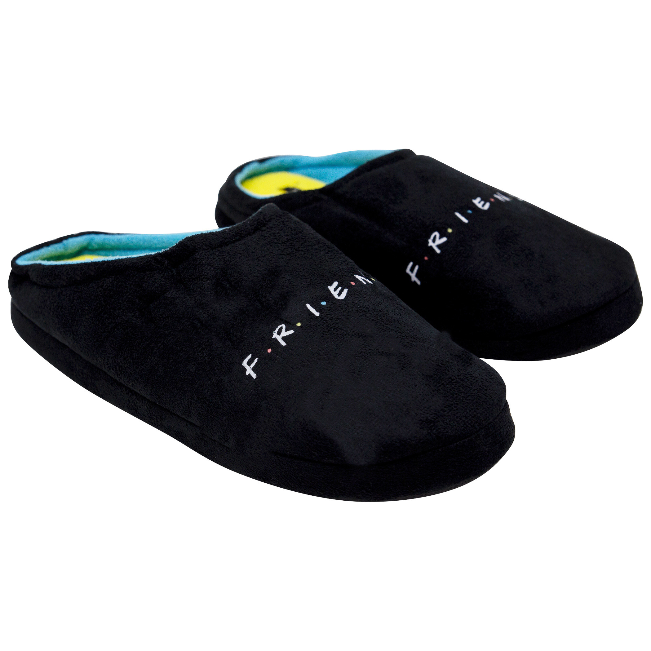 Friends Logo Black And Blue Slippers