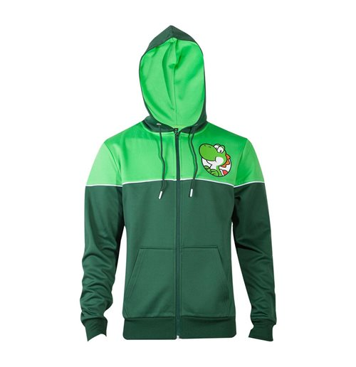 NINTENDO Super Mario Bros. Yoshi's Adventure Full Length Zipper Hoodie, Male, Extra Large, Green