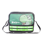 NINTENDO Super Mario Bros. Yoshi Taped Messenger Bag, Unisex, Black/Green