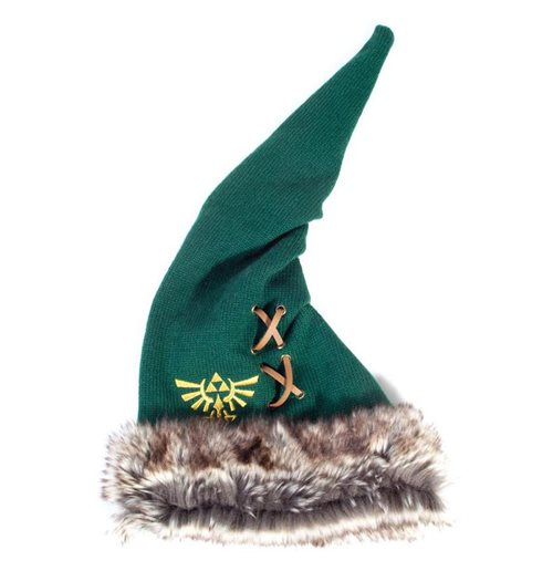 NINTENDO Legend of Zelda Furry Pointy Beanie, Unisex, Green/Brown