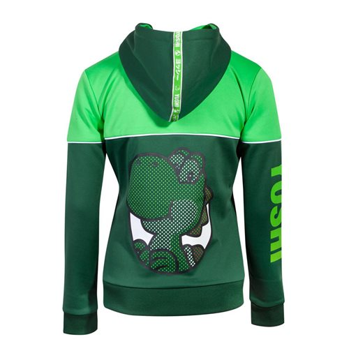 NINTENDO Super Mario Bros. Yoshi's Adventure Full Length Zipper Hoodie, Female, Medium, Green