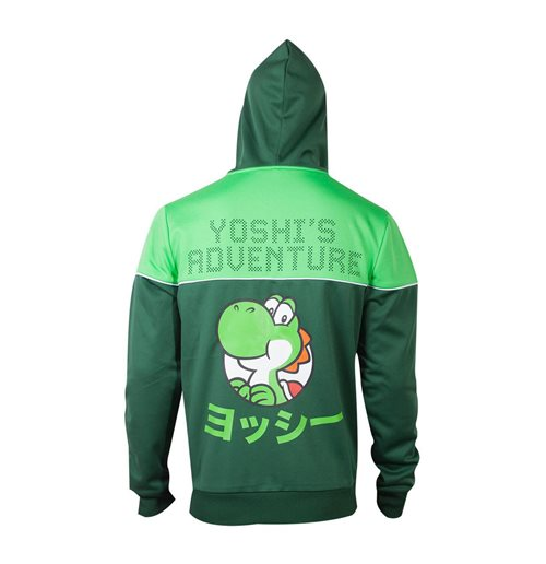 NINTENDO Super Mario Bros. Yoshi's Adventure Full Length Zipper Hoodie, Male, Small, Green