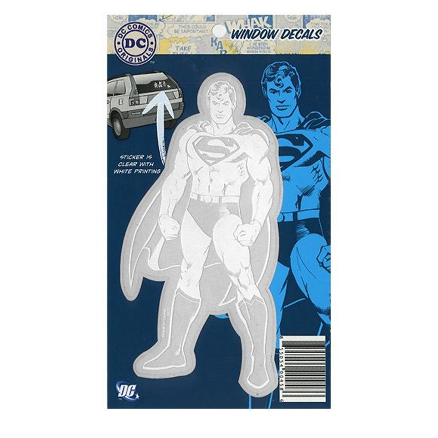 Superman Classic DC Originals Car Decal