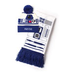 STAR WARS R2-D2 Bobble Beanie & Scarf Gift Set, Unisex, White/Blue (GS316738STW)