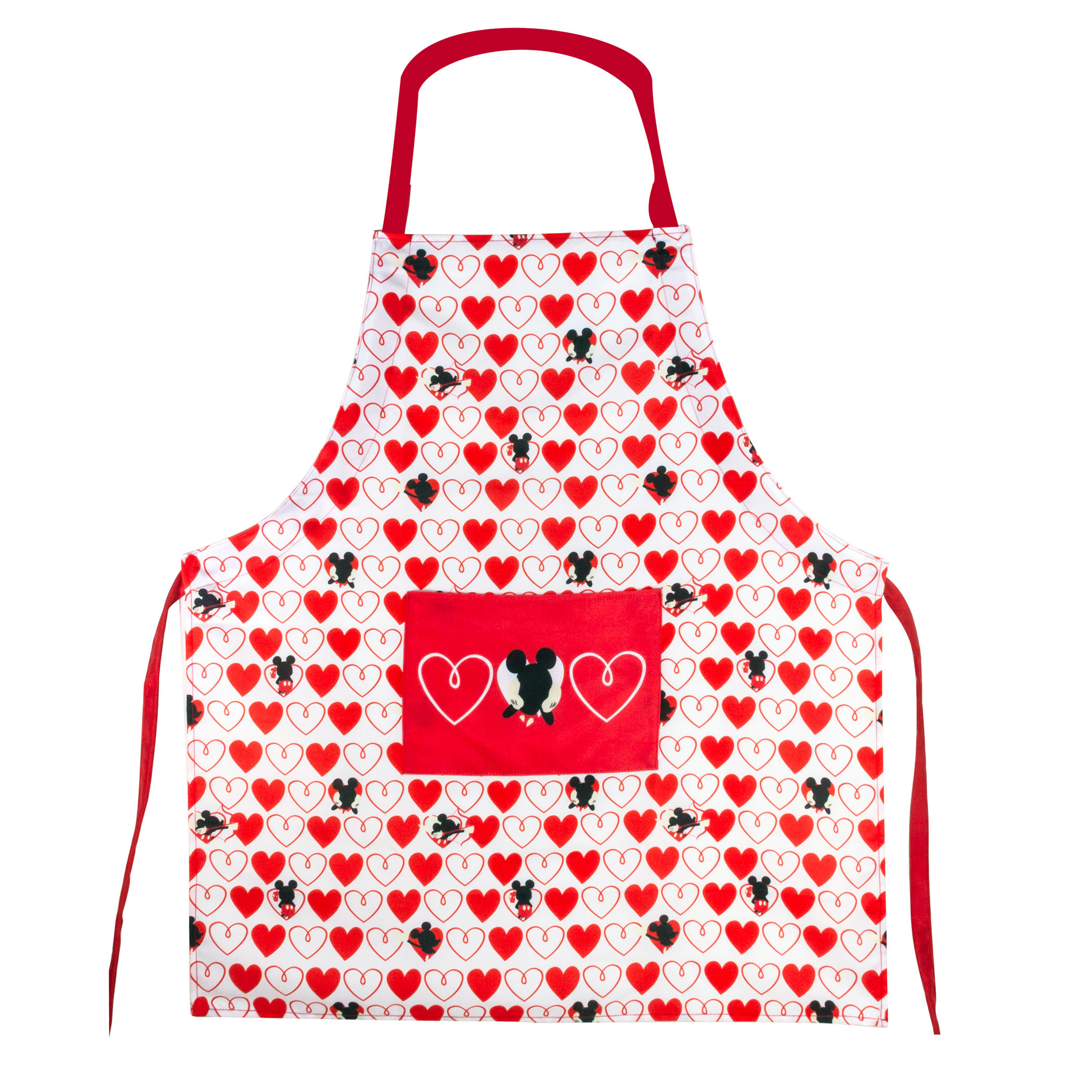 Mickey Mouse Hearts Apron
