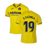 2019-2020 Villarreal Joma Home Football Shirt (S CAZORLA 19)