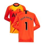 2019-2020 Tottenham Euro Home Nike Goalkeeper Shirt (Orange) (Your Name)