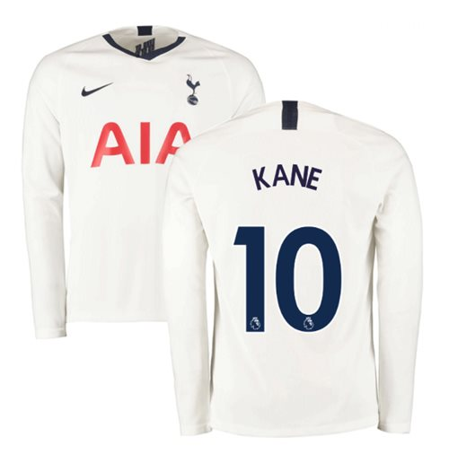 2019-2020 Tottenham Home Long Sleeve Nike Shirt (KANE 10)