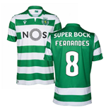 2019-2020 Sporting Lisbon Authentic Home Match Shirt (Fernandes 8)