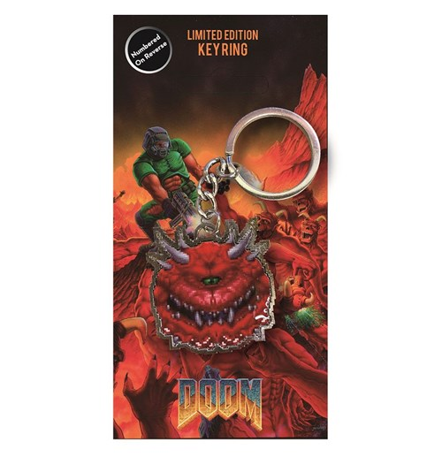 Doom Metal Keychain Cacodemon Limited Edition 4 cm